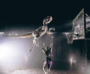 Dinosaur dunk