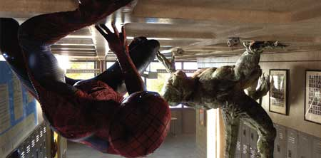 spidey on ceiling
