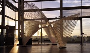 Ai Build Unveils Pavilion 3D Printed by Robots