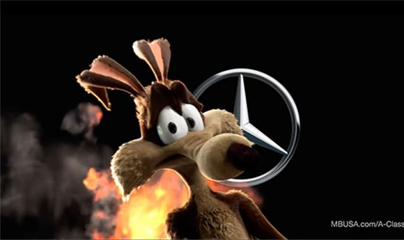 Mercedes Spot Features Familiar Characters