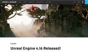 Epic Games Releases Unreal Engine 4.16