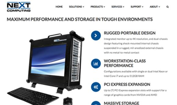 NextComputing Offers 4K Display With Rugged Workstation