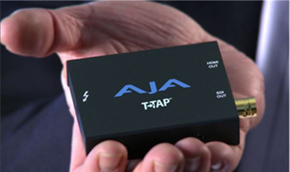 AJA Announces T-TAP, Thunderbolt Power in the Palm of Your Hand
