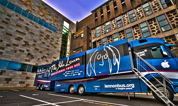 The John Lennon Educational Tour Bus Takes AJA Gear on the Road