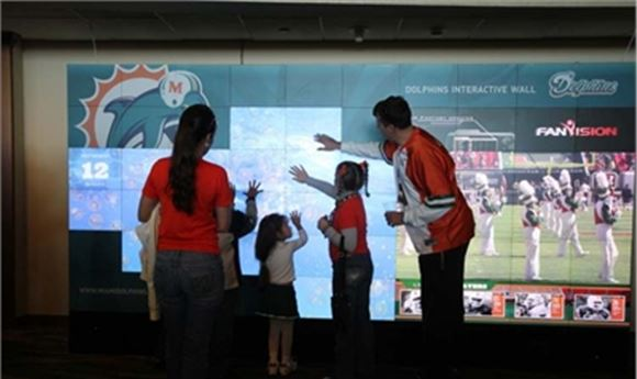 Miami Dolphins Choose Christie Microtiles and Arsenal Media Immersive Multimedia Wall