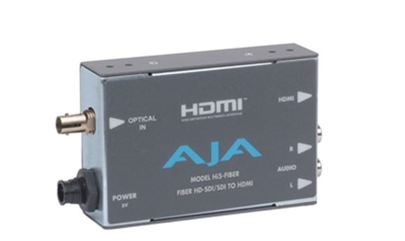 New AJA Hi5-Fiber and FiDO SDI/Optical Fiber Mini-Converters Debut