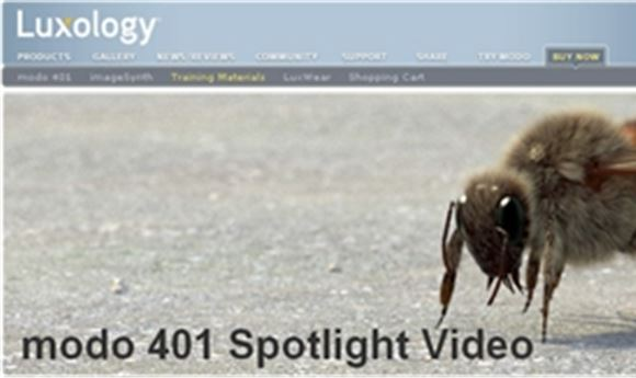 Luxology Introduces modo 401 Spotlight Training Video Series
