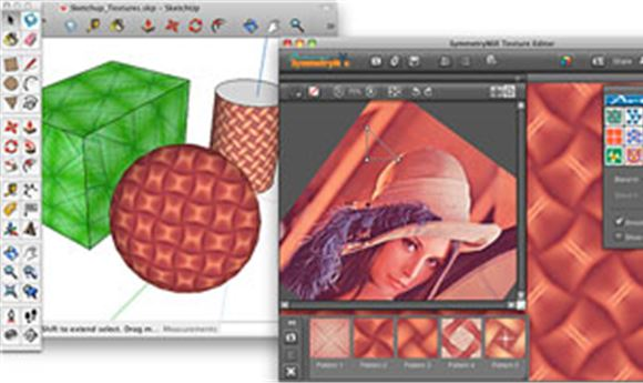 Artlandia Brings SymmetryMill to SketchUp for Live 3D Pattern Texturing