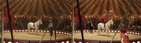 inside of the circus t...