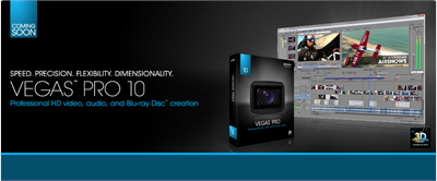 Sony Unveils Vegas Pro 10 Software Featuring 3D Video Editing Workflow