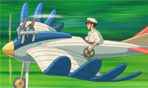 The Wind Rises – Flying Through Town