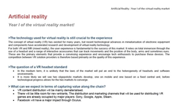 New Reports Looks At Artificial Reality Market