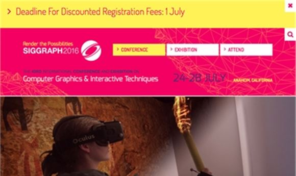 SIGGRAPH 2016 To Celebrate 'Summer of VR'