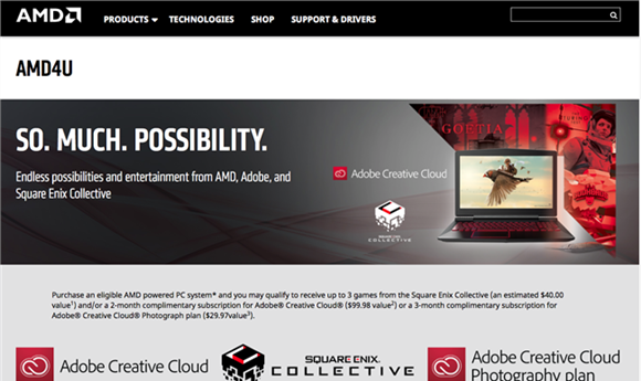 AMD Offers AMD4U for Gamers and Content Creators