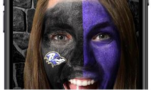 Ravens Launch First NFL AR Face Painting